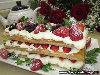 Торт-пирожное Мильфей