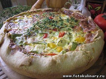 Деревенский овощной пирог