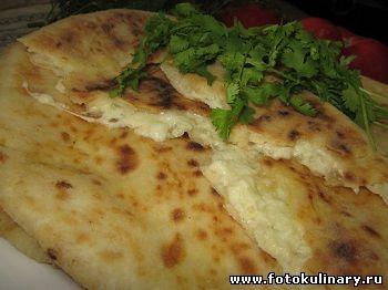 Лепёшка с сыром (хачапури по- имеретински)
