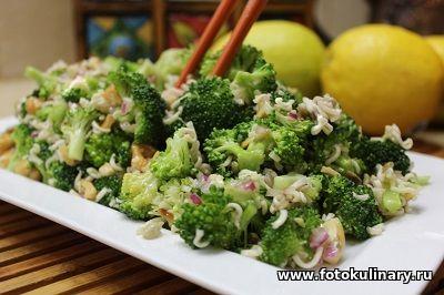 Салат в азиатском стиле из брокколи