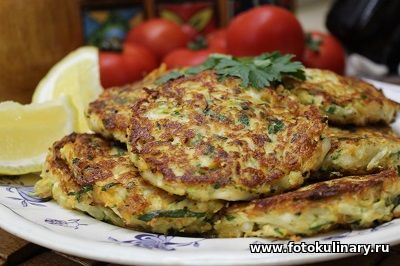 Греческие оладушки из кабачков