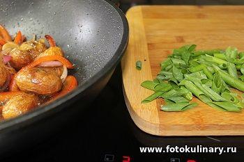 Жареный картофель по-корейски