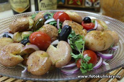 Средиземноморский тёплый картофельный салат