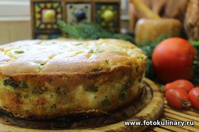 Быстрый капустный пирог из заливного теста