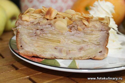 Французский невидимый яблочный пирог