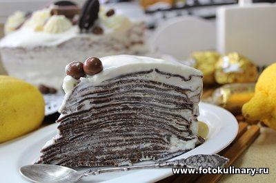 Шоколадный креп-кейк