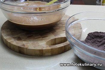 Польский шоколадно-грушевый кекс