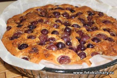 Скьяччата ✦ Итальянская лепёшка с виноградом!