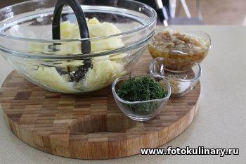Слоёные лепёшки с картофельной начинкой