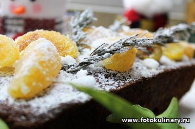 Мандариновый рождественский кекс