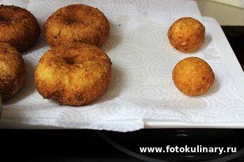 Румынские творожные пончики Папанаши