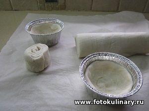 Слоёные корзинки с миндальным кремом