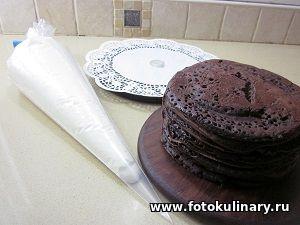 Шоколадный торт на сковородке