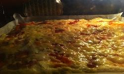 Пицца (быстрое тесто для пиццы)