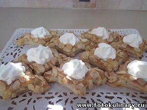 Пирожные слоеные с кремом