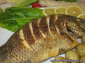 Рыба жаренная целиком с хрустящей корочкой